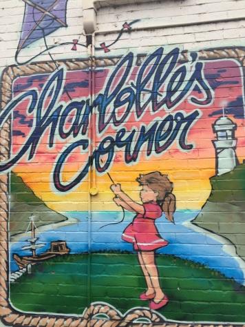 Charlotte's Corner Wall Art outside the café
